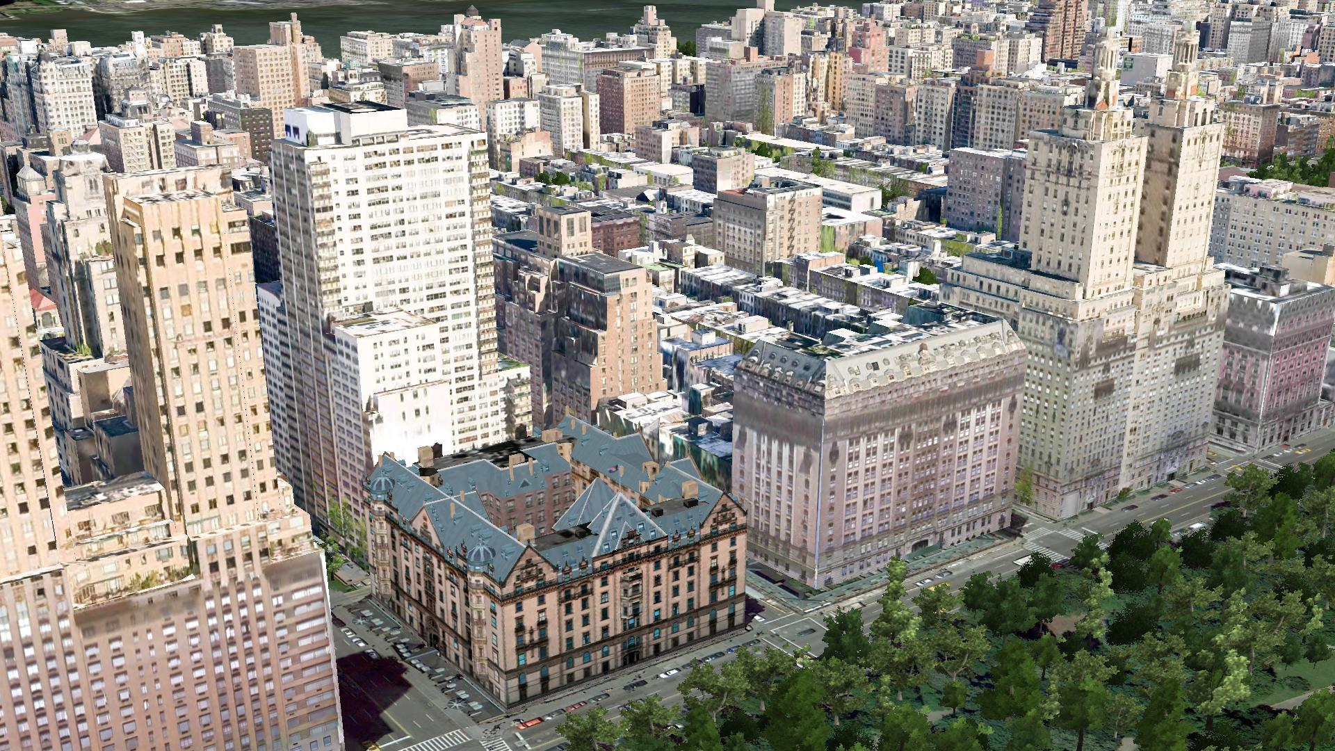 The Dakota, 1 West 72nd Street Aerial Imagery