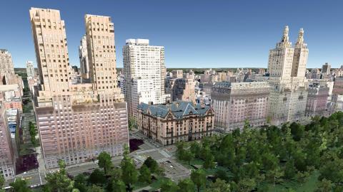 The Dakota 1 West 72nd Street Aerial Imagery